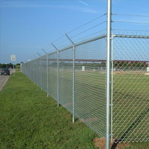 chain link fence in field