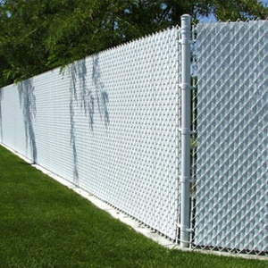 white privacy chain link fence