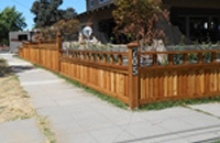 wooden fence residential